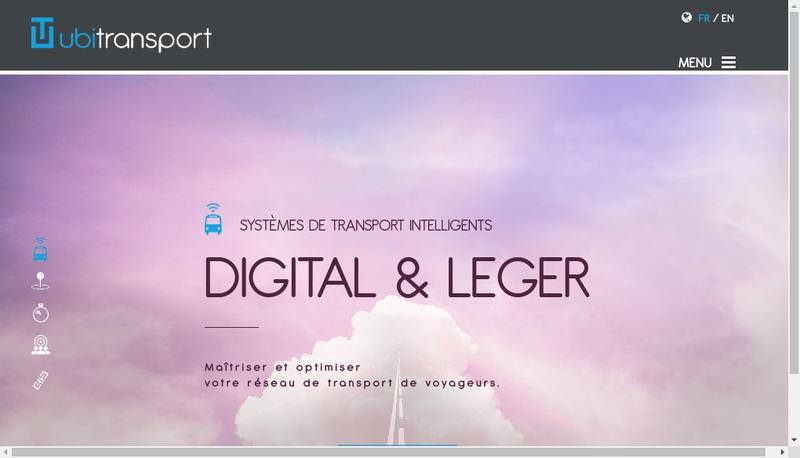 Capture d'écran du site de Ubi Transports