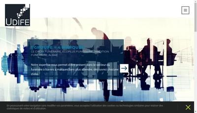 Site internet de Udife Assurances - Assistance Funeraire