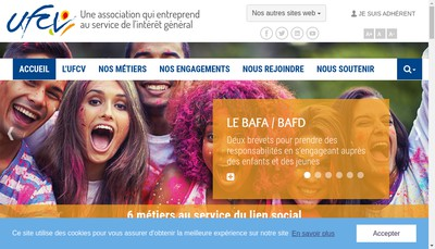 Site internet de Union Francaise Centre Vacances Loisirs