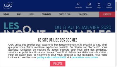 Site internet de UGC