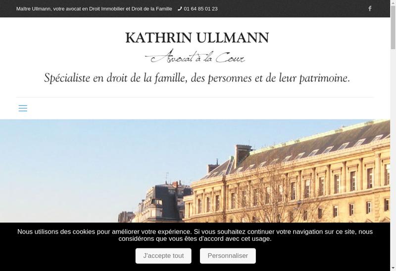 Capture d'écran du site de Kathrin Ullmann