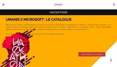 Capture d'écran du site de Umanis