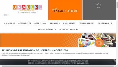 Site internet de Union Nationale Adere le Reseau d'Achat Partage