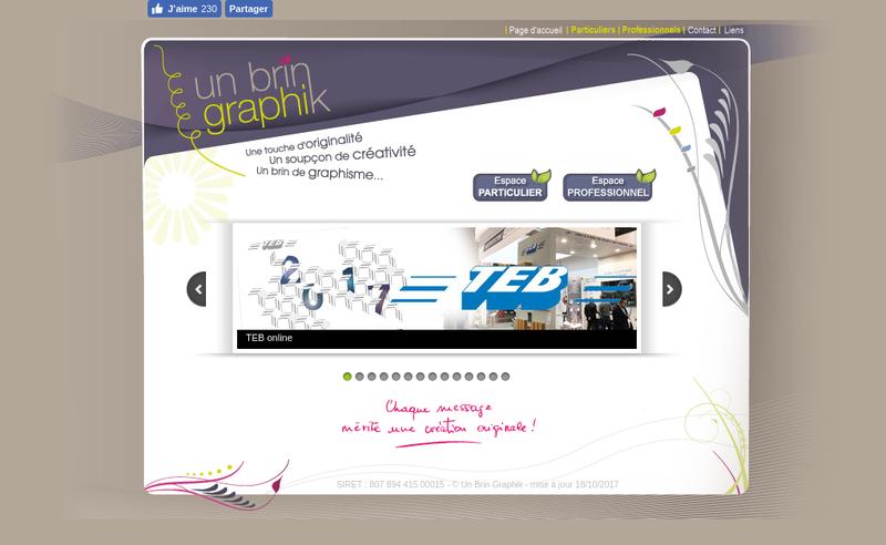 Site internet de Un Brin Graphik