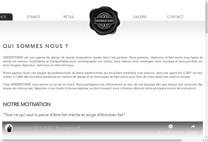 Capture d'écran du site de Understand