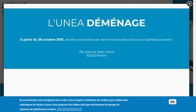 Site internet de Unea