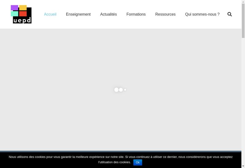 Capture d'écran du site de Une Education Pour Demain