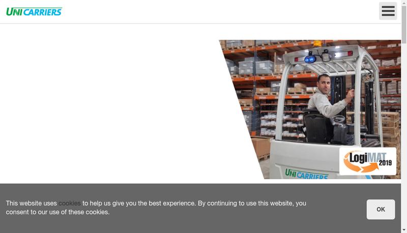 Capture d'écran du site de Unicarriers France