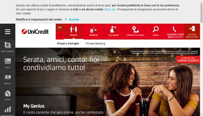 Site internet de Unicredit