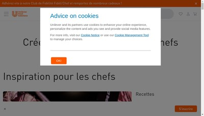 Site internet de Food Solutions
