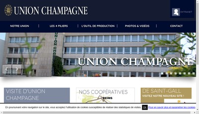 Site internet de Union Champagne
