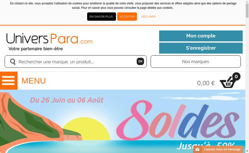 Capture d'écran du site de Pharmacie Bonne Font