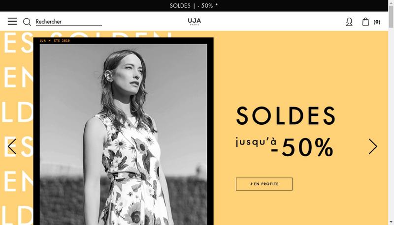 Capture d'écran du site de Un Jour Ailleurs
