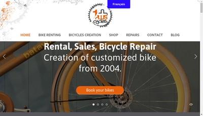 Site internet de Un Plus Cycles