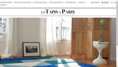 Site internet de Un Tapis a Paris