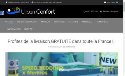 Site internet de Urban Confort
