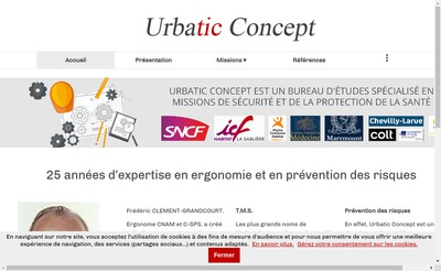Site internet de Urbatic Concept