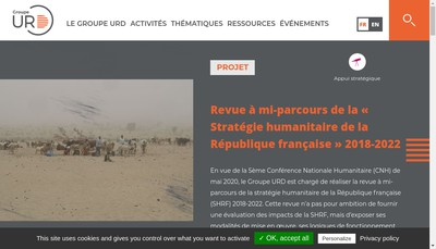 Site internet de Groupe Urgence Rehabilit Developpement