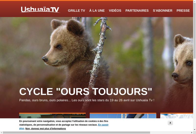 Capture d'écran du site de Ushuaia Tv