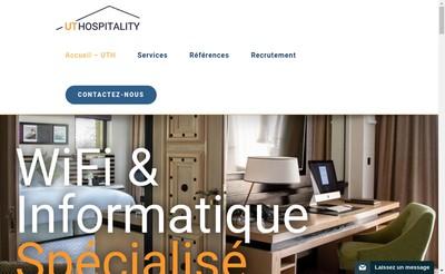 Site internet de Ut Hospitality-Utelecoms