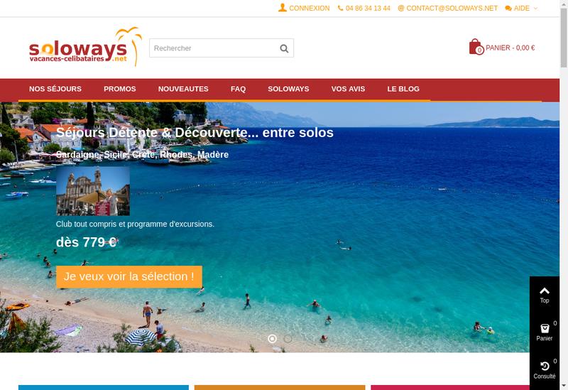 Capture d'écran du site de Soloways / Sologays