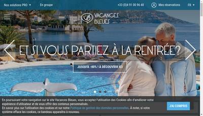 Site internet de Vacances Bleues Evasion