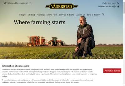 Site internet de Vaderstad