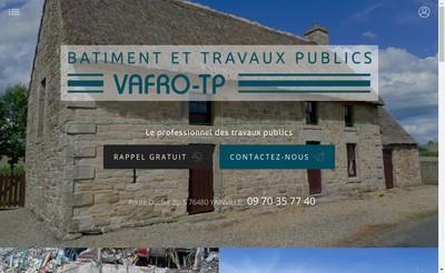 Site internet de Vafro Tp