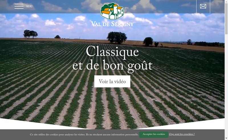 Capture d'écran du site de SAS Val de Serigny