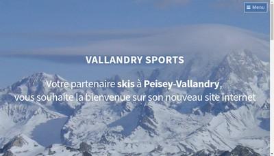 Site internet de Vallandry Sports