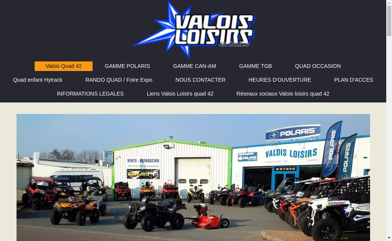 Site internet de Valois Loisirs