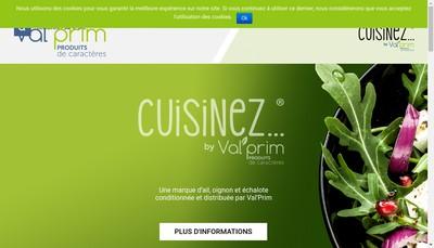 Site internet de SA Val'Prim