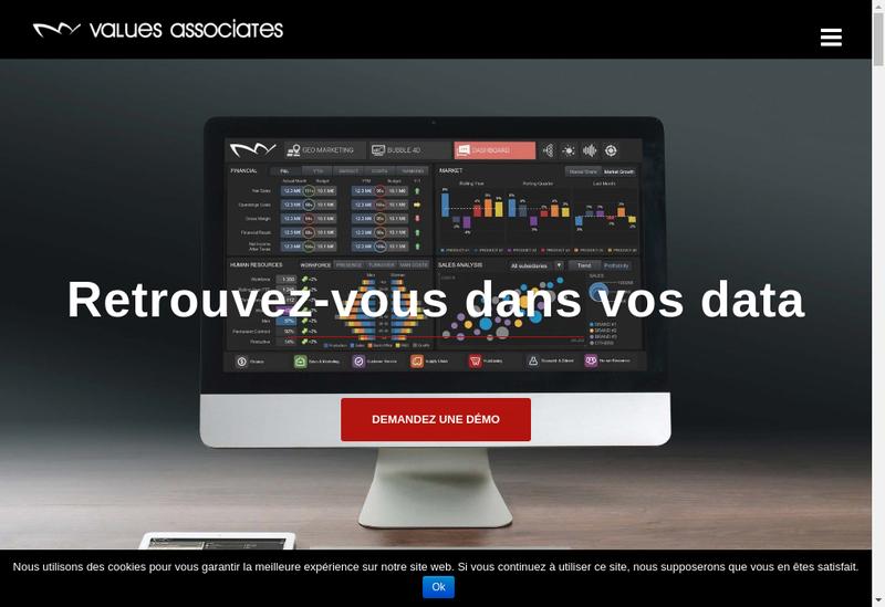 Capture d'écran du site de Values Associates