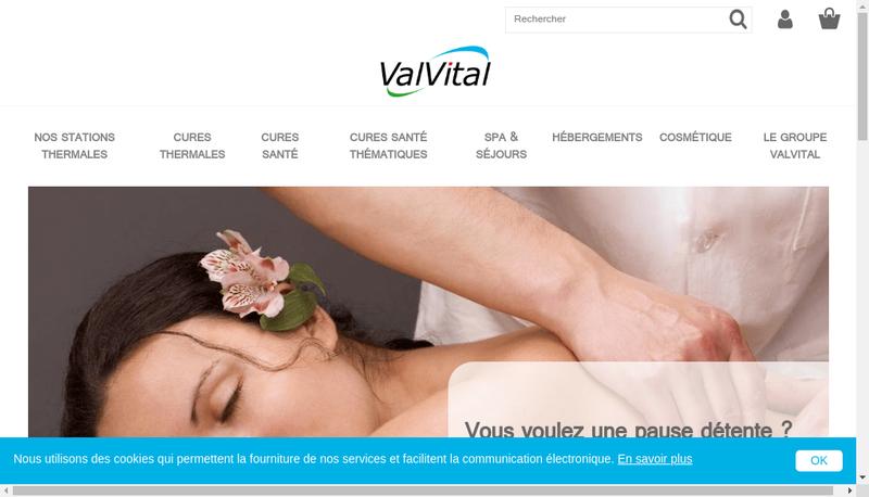 Capture d'écran du site de Valvital
