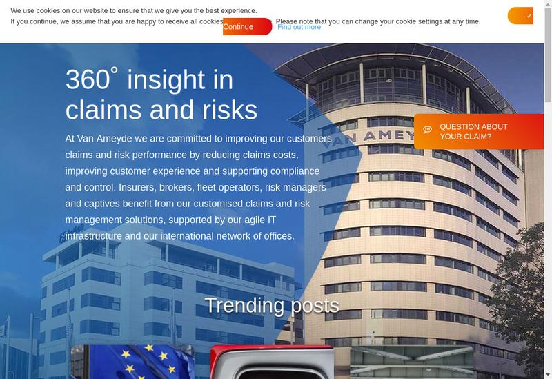 Capture d'écran du site de Van Ameyde France