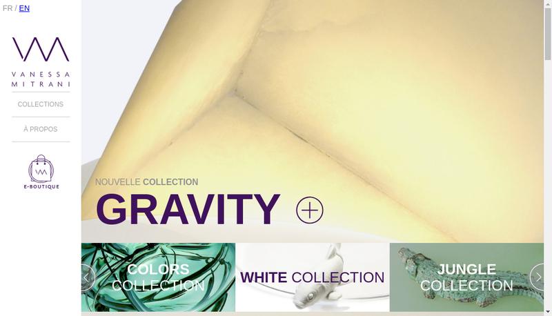 Capture d'écran du site de Vanessa Mitrani Creations