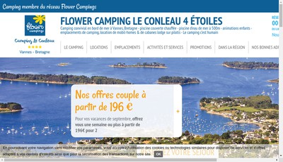 Site internet de Societe Camping de Vannes