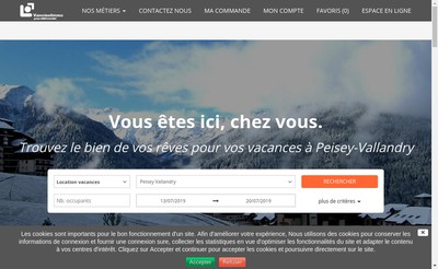 Site internet de Vanoise Immo