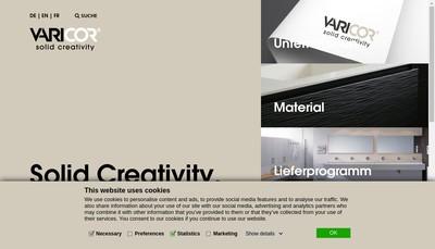 Site internet de Varicor