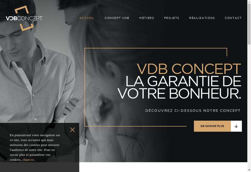 Capture d'écran du site de Vdb Concept