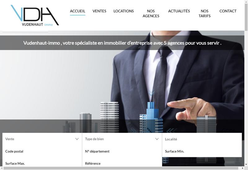 Capture d'écran du site de Vudenhaut Immo