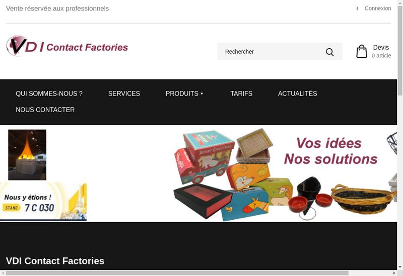 Capture d'écran du site de Vdi Contact Factories