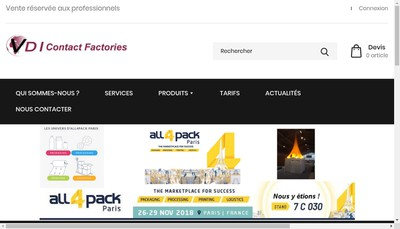 Site internet de Vdi Contact Factories