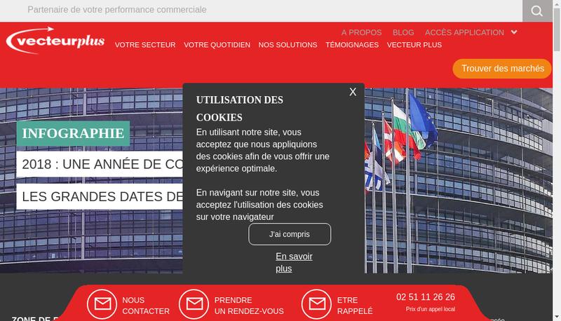 Capture d'écran du site de Vecteur