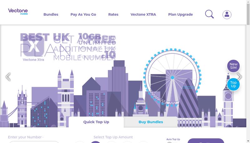 Capture d'écran du site de Mundio Mobile