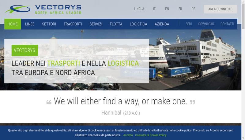 Capture d'écran du site de Vectorys