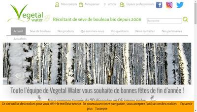Site internet de Vegetal Water