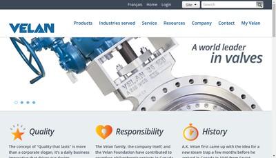 Site internet de Velan SAS