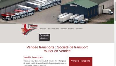 Site internet de Vendee Transports