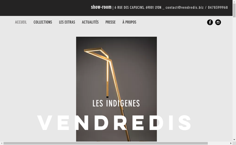 Capture d'écran du site de Vendredis